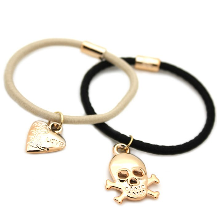 Beaded Skull & Heart Bobble Set